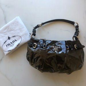 Prada Ombre Patent Baguette Shoulder Bag